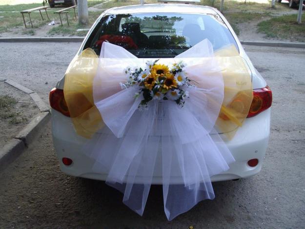 Украшение свадебной машины своими руками с фото